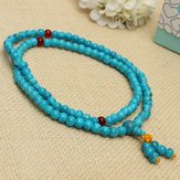 108 6mm Tibetan Buddhist Turquoise Prayer Beads Necklace Bracelet