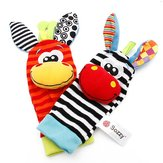 Lovely Animal Cute Baby Infant Kids Rattles Finders Wrist Glove Toys Foot Socks