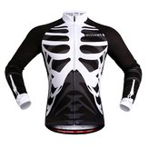 WOSAWE Spring And Autumn Bicycle Clothes Skeleton Long-sleeved Riding Jersey