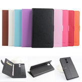 PU Litchi Pattern Leather Protective Case Cover For Doogee F5