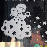 2Pcs Christmas Angle Star Window Decal Wall Sticker Christmas Decoration For Coffee House Restaurant