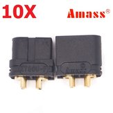 10 Pair Amass XT60U 3.5mm Banana Plug Connector Black Male & Female