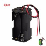 5pcs DIY 6V 4-Slot AA Battery Double Deck / Back To Back Holder Case With Leads
