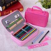 36 Holes Art Pen Pencil Case Box Students Stationary Zipper Storage Makeup Bag