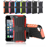 Dual Layers Silicone PC Hybrid Bumper Back Cover Case Stand For iPod Touch 5/6