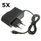 5Pcs 5V 2A EU Power Supply Micro USB AC Adapter Charger For Raspberry Pi
