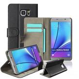 Mohoo Magnetic Black Leather Flip Wallet Card Case for Samsung Galaxy Note 5