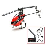 Hisky HCP60 2.4G 6CH 6 Axis Gyro Flybarless RC Helicopter With HT8 Adapter Module