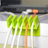 2PCS Cord Divider Adhesive Wire Cable Clips Organizer Holder Fixer Desktop Cable Management
