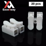 Excellway CH2 Quick Wire Connector Terminal Block Spring Connector LED Strip Light Wire Connector
