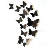 12Pcs DIY Stylish 3D Butterfly Art Wall Sticker Decals Home Room Wedding Party Decorations