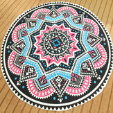 145CM Bohemia Floral Indian Round Yoga Mat Beach Towel Shawl Wall Hanging Tapestry