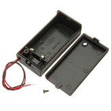 3Pcs 9V Battery Box Pack Holder With ON/OFF Power Switch Toggle Black