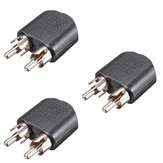 3.5mm 1/8 inch Female Jack To Dual RCA Male Y Splitter Audio Adapter Converter Set