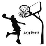 Just Do It Basketball Wall Decal DIY Removable Sports Home Room Decor Wall Sticker Wallpaper Art