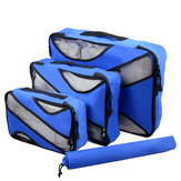 3pcs Travel Bag Waterproof Storage Bag Portable Luggage Laundry Bag Home Organizer