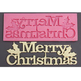 Silicone Merry Christmas Letter Fondant Cake Mould Liquid Mold