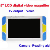 UM005 Low Vision 5inch LCD Handheld Video Magnifier Reading Magnifier Aid Digital Video Magnifier Electronic Microscope