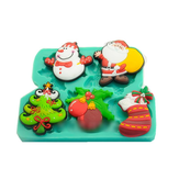 Christmas Santa Snowman Molds Silicone Chocolate Mold Candy Cookie Fondant Cake Decorating Tools