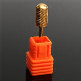 2.3mm Smooth End Electric Carbide Nail Drill Bit Golden Nail Art Drill File Bits