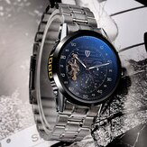 Tevise 8378 Automatic Mechanical Men Watch Countdown Stainless Steel Wristwatch