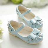 Original 2016 New Fashion Girls Beauty Princess Shoes Kids Flowers Dance Sandals Soft Leather Casual