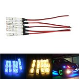 5pcs IP65 DC12V 3528 SMD Red Green Blue White 3LED Strip Lights