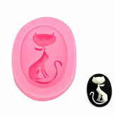 KCASA Cat Silicone Fondant Mold Cake Decorating Mould Gumpaste Sugarpaste Mold FDA LFGB