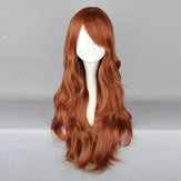 Chestnut Brown Wavy Long Harajuku High Temperature Heat Friendly Synthetic Costume Cosplay Wig