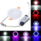 3W RGB Dual Color LED Recessed Ceiling Round Panel Down Light Lamp AC85-265V