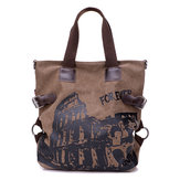 Women Canvas Graffiti Tote Bags Girls Casual Shoulder Bags Large Capacity Shopping Bags
