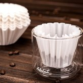 50 pcs Coffee Filter Paper Bowl Fit with No.185 Filter Paper Drip Cup Coffee Filter Baskets