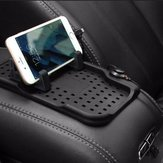 Magnetic Adsorption Silicone Non-Slip Charging Cable Car Stand Mount Holder For iPhone Samsung GPS