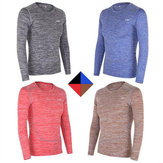 Mens Tights Sports Fitness Tees Stretch Speed Dry Long Sleeved  T-shirt  Breathable Tees