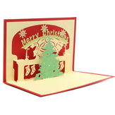 3D Handmade Christmas Tree Greeting Card Pop Up Invitation Card