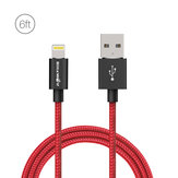 [MFI Certified] BlitzWolf® BW-MF6 2.4A Lightning Braided Data Cable 6ft/1.8m With Magic Tape Strap