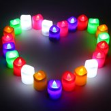 24pcs Multi-color LED Flameless Romantic Tea Light Candle Lamp Wedding Party Decor