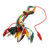 42cm 10pcs Alligator Clips Electrical DIY Test Leads Alligator Double-ended Crocodile Clips Roach Clip Test Jumper Wire