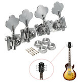 4Pcs Machine Heads Silver Tuning Pegs Tuner for Bass Guitar Replacement