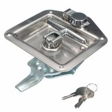 Handle Lock Tool Box for Truck Trailer Camp Stainless Steel Folding T Shape