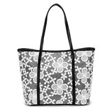 Women Lace Flower Design Tote Bags Casual Simple Shoulder Bags Crossbody Bags Capcity Shopping Bags