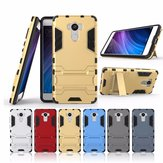 Luxucy Shockproof Hybrid Armor Shell TPU+PC Stand Holder Case For Xiaomi Redmi 4 All Version