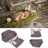 Baby Lovely Rabbit Crochet Costume Photo Photography Prop Clothes