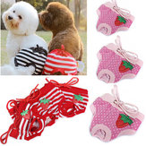 Female Pet Dog Strawberry Striped Underwear Puppy Cat Diaper Sanitary Pants