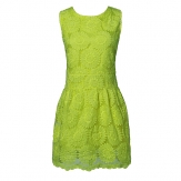 China Wholesale Green Summer Stereo Flower Sleeveless Dress