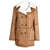 Exquisite Lamb Wool Straight Cut Double Breasted Thicken Coat