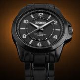 SKMEI 1072 Black Stainless Steel Waterproof Quartz Wrist Watch