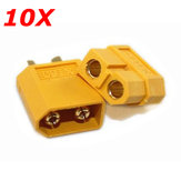 Original 10X XT60 Male Female Bullet Connectors Plugs For RC Battery