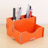 DIY Wood Desk Storage Organizer Container Box For Office Study