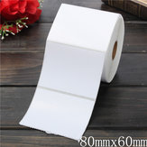 700PCS 80mm x 60mm White Coated Paper Bar Code Labels Adhesive Stickers